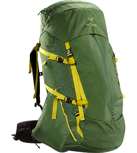 Altra 85 Backpack Men's Five-plus day, 85 litre volume expedition back pack that carries heavy loads comfortably for long periods over rough terrain when trekking and backpacking, constructed with the new C² Composite Construction system,
