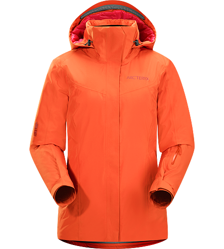 Andessa Jacket Women's Waterproof, down insulated jacket for cold days skiing and snowboarding in resort