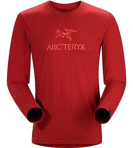 Bird Word T-Shirt LS Men's Long sleeve cotton tee featuring the iconic Arc'teryx logo.