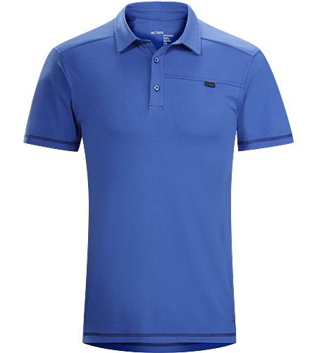 Captive Polo SS Men's Relaxed-fitting, short-sleeved polo shirt made from lightweight, moisture-wicking cotton/polyester blend textile with spandex. Ideal for urban use or for more rugged pursuits.