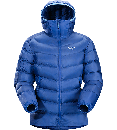 Cerium SV Hoody Women's Down Series: Down insulated garments | SV: Severe Weather. This backcountry specialist is the warmest Cerium hoody. Streamlined, lightweight down jacket filled with 850 grey goose down. This jacket is intended as a warm mid layer or standalone piece in cold, dry condtions.