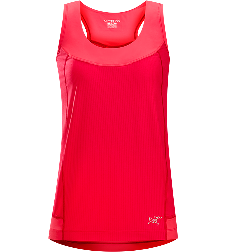 Cita Sleeveless Women's Super lightweight, high performance women's sleeveless top with air permeable mesh panels and comfortable, stretchy racer back straps and rear yoke.