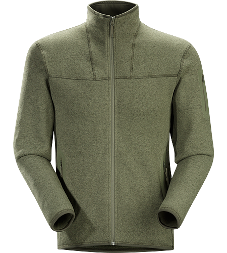 Covert Cardigan Men's Clean, casual lines and technical Alpenex™ fleece performance combine in a hooded jacket with wool sweater styling.