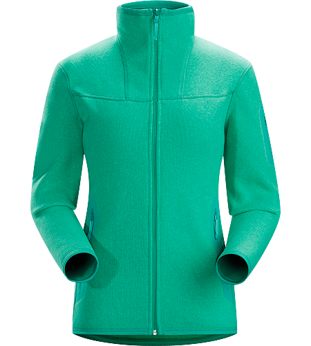 Covert Cardigan Women's Clean, casual lines and technical Alpenex™ fleece performance combine in a hooded jacket with wool sweater styling