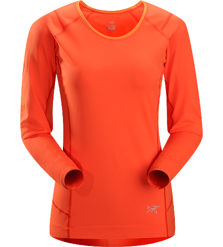Ensa LS Women's Breathable, moisture wicking, technical long sleeve running shirt made with a slightly heavier fabric that is ideal for active use on cooler days.