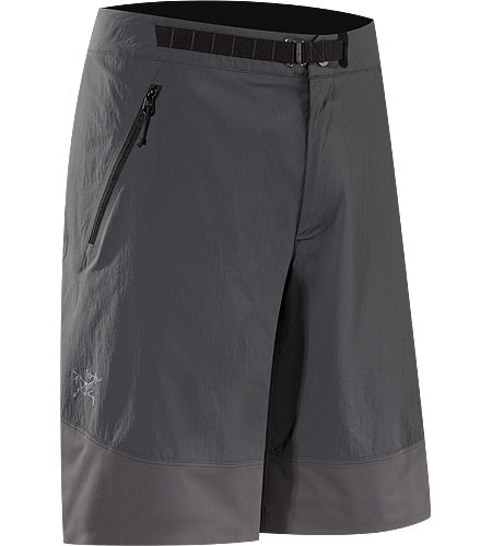 Gamma SL Hybrid Short Men's Gamma Series: Softshell outerwear with stretch | SL: Superlight. Durable, air permeable, lightweight technical climber's shorts reinforced with stretchy, hardwearing Fortius™ 1.0 softshell for enhanced abrasion resistance and mobility.