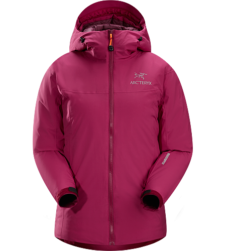 Kappa Hoody Women's Kappa Series: Insulated wind resistant outerwear. Highly insulated, windproof, breathable jacket; ideal for active pursuits in freezing weather.