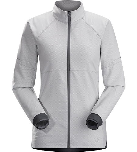 Kapta Jacket Women's An air permeable, mid weight jacket constructed with a moisture-resistant textile with a smooth outer face and an odour control backer. Ideal for running in cool weather.