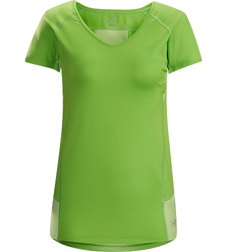 Kapta Shirt SS Women's Lightweight, breathable, stretchy short sleeve shirt with a mesh back panel; ideal for active pursuits in warm weather