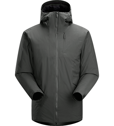 Khuno Parka Men's Windproof thigh length parka for men with the weather resistance of WINDSTOPPER® fabric and warmth of Coreloft™ synthetic insulation.