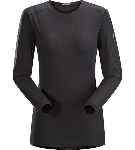 Phase SL Crew LS Women's Phase Series: Moisture wicking base layer | SL: Superlight. Moisture-wicking base-layer, constructed using odour-control fabric; ideal as lightweight insulation layer during aerobic activities