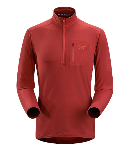 Rho LT Zip Neck Men's Lightweight, moisture-wicking base layer shirt with odour-control fabric.