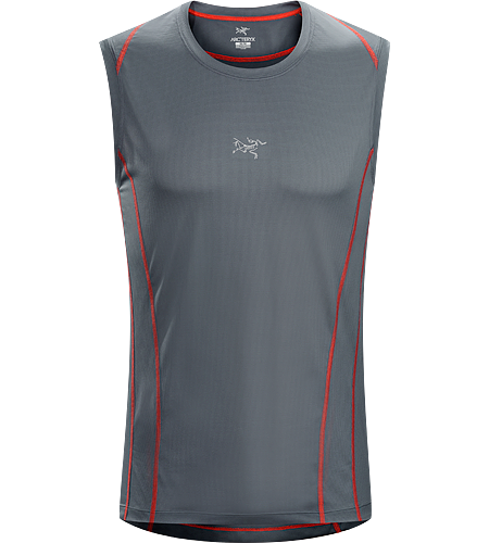 Sarix Sleeveless Men's Ultra lightweight, highly air permeable performance mesh sleeveless shirt for high output mountain training.