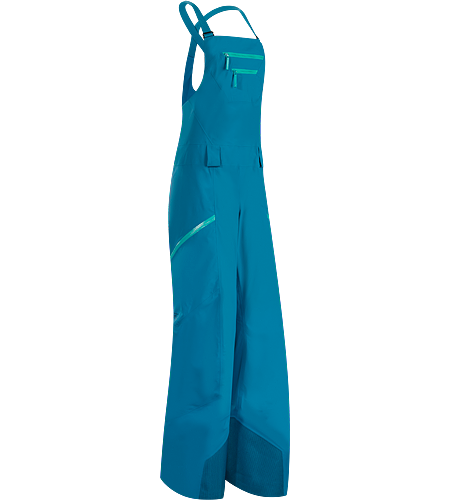 Sentinel Full Bib Pant Women's Waterproof, lightly insulated, relaxed fit bit pant with large cargo pockets for plenty of storage. Intended for extended use on long, deep snow days