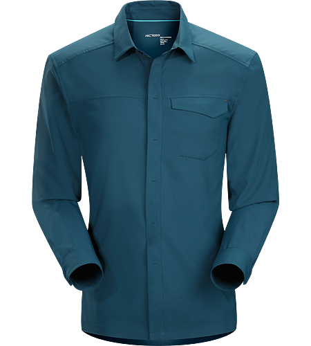 Skyline Shirt LS Men's Cool, airy, long sleeve, moisture wicking Diem™ polyester shirt with comfort stretch and contemporary styling.