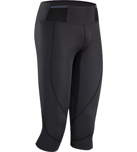 Soleus 3/4 Tight Men's Lightweight, 3/4 length, high performance race tight with multiple pockets on waist belt for carrying essential race items.