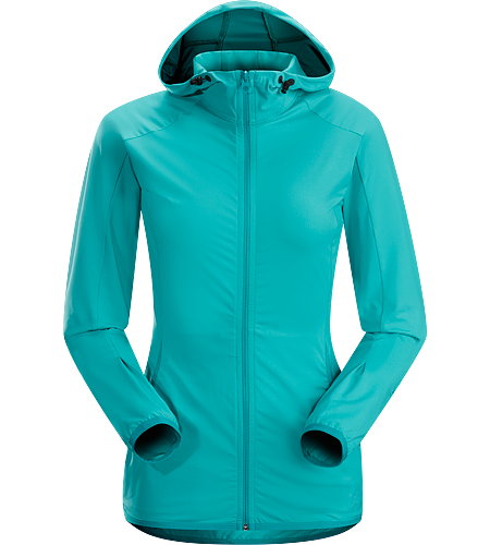 Soltera Hoody Women's Trim fitting hoody made of stretchy, breathable jersey fabric; ideal for aerobic pursuits.