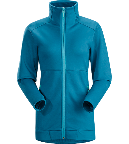 Straibo Jacket Women's Cobblecomb™ fleece jacket combines on-mountain midlayer performance with après ski style.