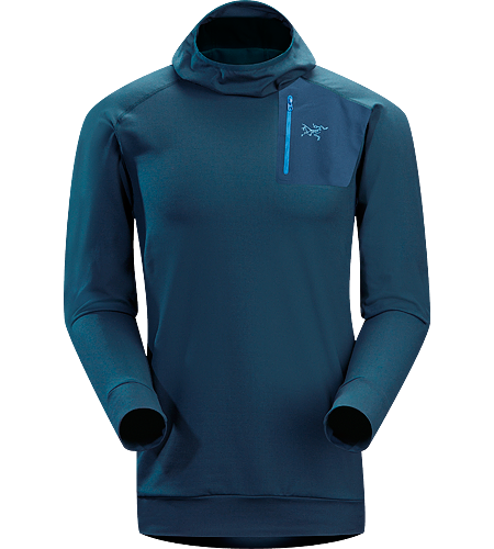 Stryka Hoody Men's High performance cold weather base layer with a trim fit and balaclava style hood.