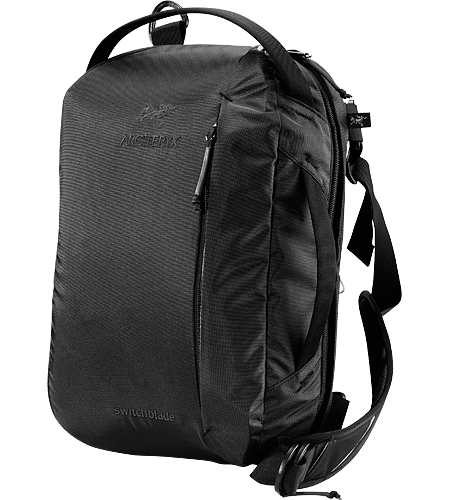 Switchblade Backpack Rugged, durable travel laptop bag comes with a multitude of pockets. Fits a standard 15 inch laptop.