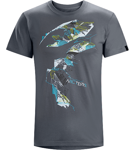 Tantalus T-Shirt Men's Cotton short sleeve tee with a bold mountain inspired graphic.