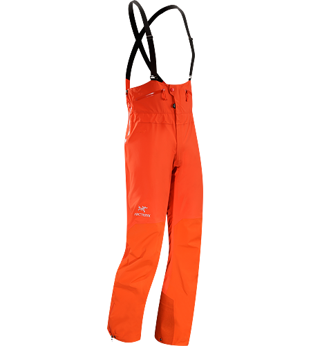 Theta SV Bib Men's Theta Series: All-round mountain apparel with increased coverage | SV: Severe Weather. Durable, waterproof/breathable bib-style pant in GORE-TEX® Pro reinforced with more rugged face fabric; Ideal in harsh weather conditions.