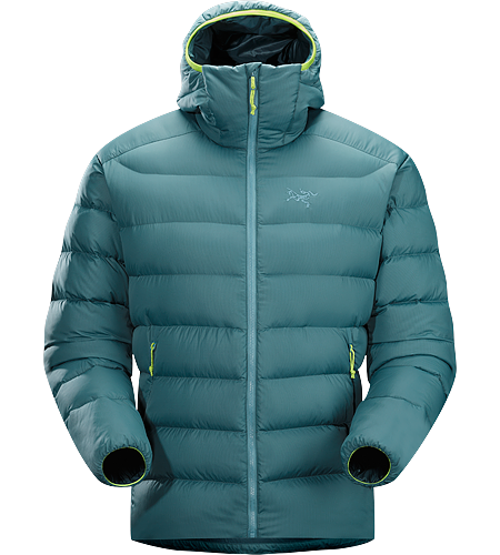 Thorium SV Hoody Men's Down Series: Down insulated garments | SV: Severe Weather. Generalist down hoody made from durable face fabrics and 750 fill grey goose down. Functions as a warm mid layer or standalone piece for cool, dry conditions.