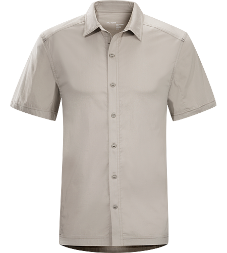 Transept Shirt SS Men's Lightweight, short-sleeved collared shirt constructed with breathable cotton/synthetic blend textile; ideal for travel in a variety of climates and conditions.