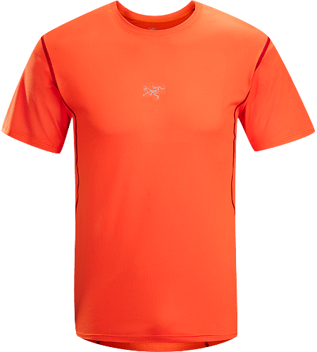 Velox Crew Men's Lightweight, moisture wicking short sleeved shirt constructed using a highly breathable mesh textile; ideal for training during warmer conditions.
