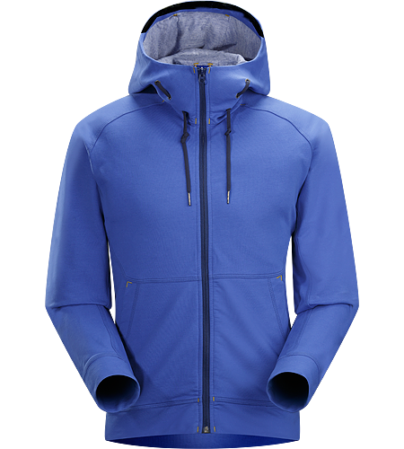 Witness Hoody Men's Relaxed fit hoody with hand pockets, a cinchable, wool blend, lined hood and constructed with Espanda™—a stretchy yet weighty, cotton/spandex terry fleece textile with a soft hand throughout the main body.