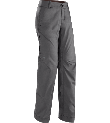A2B Commuter Pant Women's Denim-inspired water repellant, quick drying pant with hidden reflective elements and adjustable pant cuffs for commuters.