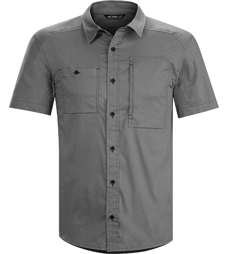A2B Shirt SS Men's Relaxed fit, short sleeved, button down cotton/polyester shirt for everyday living and active urban bike commutes.