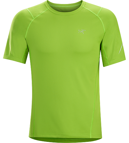 Accelerator SS Men's Versatile, quick drying, moisture wicking short sleeve technical tee designed for mountain training in cool conditions.