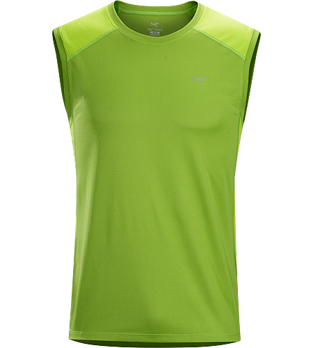 Actinium Sleeveless Men's Sleeveless, highly air permeable, lightweight, moisture wicking Viente™ micromesh top. Designed for mountain training in hot weather.