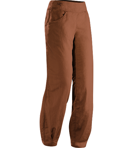C'esta Pant Women's Lightweight, breathable, relaxed fit cotton/linen pant with a wide, comfort waistband and gathered, pleated cuffs. Ideal for casual urban use in hot weather, or while travelling.