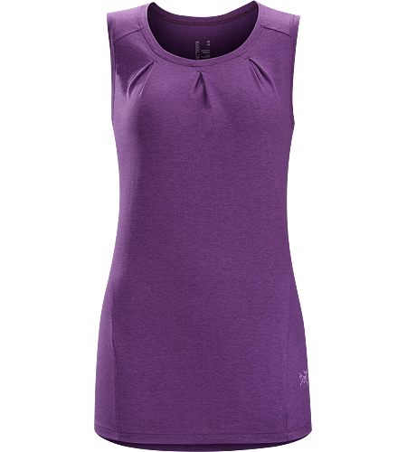 Cassia Sleeveless Women's Trim fitting, casually styled women's sleeveless top. Lylae™ fabric blends cool, comfortable cotton with quick drying polyester.