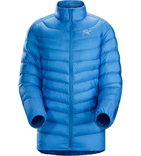 Cerium LT Jacket Women's Down Series: Down insulated garments | AR: All-Round. Streamlined, lightweight, jacket filled with 850 white goose down. This backcountry specialist is intended as a mid layer or standalone piece in cool, dry conditions.