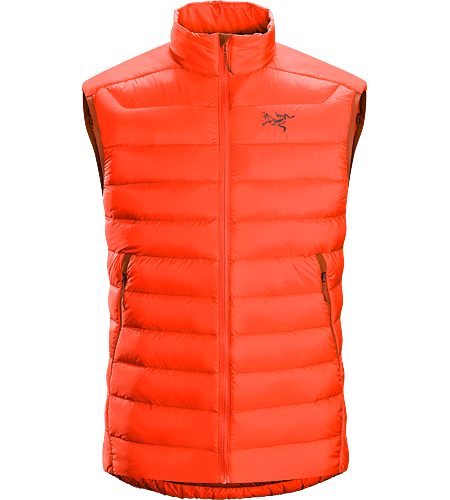 Cerium LT Vest Men's Streamlined, lightweight, vest filled with 850 white goose down. This backcountry specialist vest is intended as a mid layer or standalone piece in cool, dry conditions. Down Series: Down insulated garments | AR: All-Round.