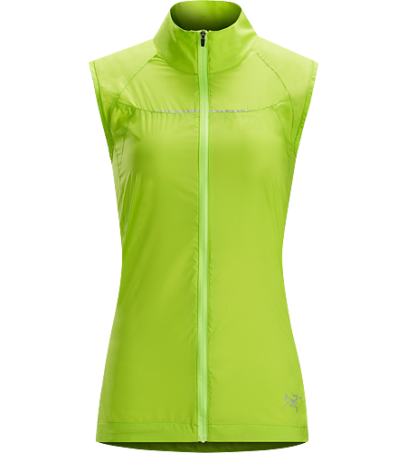 Cita Vest Women's Ultra-lightweight vest for chilly days, featuring weather resistant Lumin™ nylon in the front and a highly breathable mesh back panel.