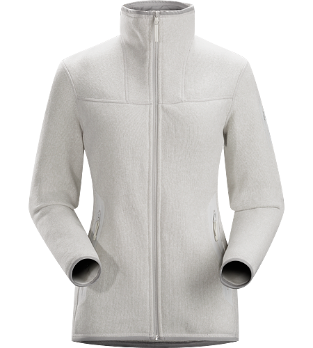 Covert Cardigan Women's Clean, casual lines and technical Alpenex™ fleece performance combine in a fleece jacket with wool sweater styling