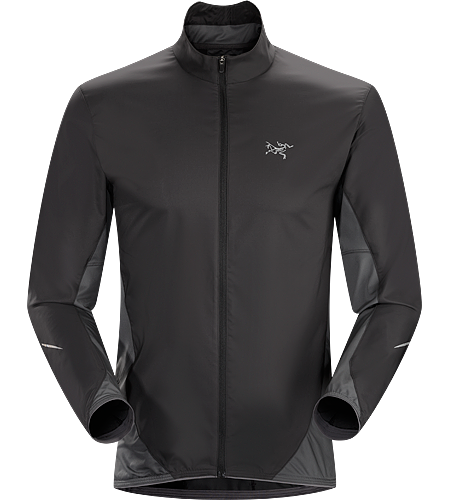 Darter Jacket Men's Streamlined, lightweight shell for wind and weather protection during high output aerobic activities.