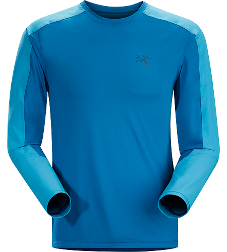 Ether Comp Crew LS Men's Lightweight, moisture-wicking, durable and abrasion-resistant long-sleeved shirt designed with two distinctive technical fabrics to keep you cool and dry on the trail.