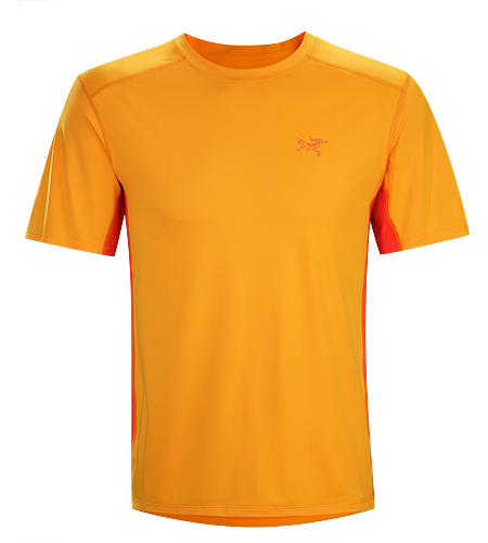 Ether Crew SS Men's Durable, lightweight, moisture wicking Helius™ polyester short sleeve shirt. Viente™ mesh underarm panels aid venting.