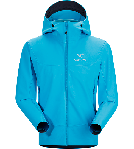 Gamma LT Hoody Men's Durable and breathable, wind and moisture resistant softshell hooded jacket for everyday use. Ideal for active outdoor use. Gamma Series: Softshell outerwear with stretch | LT: Lightweight.