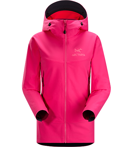 Gamma LT Hoody Women's Durable and breathable, wind and moisture resistant softshell hooded jacket for everyday use. Gamma Series: Softshell outerwear with stretch | LT: Lightweight.