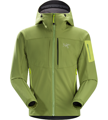 Gamma MX Hoody Men's Breathable, wind-resistant, lightly insulated hooded jacket constructed with Fortius 2.0 textile for increased comfort and mobility. Gamma Series: Softshell outerwear with stretch | MX: Mixed Weather.