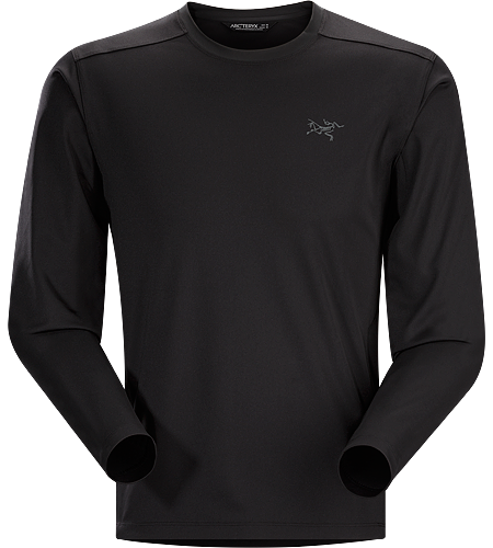 Iridine Crew LS Men's Heavyweight, hard wearing long sleeve technical Skytha™ polyester T-shirt for cooler temperatures and rugged conditions.