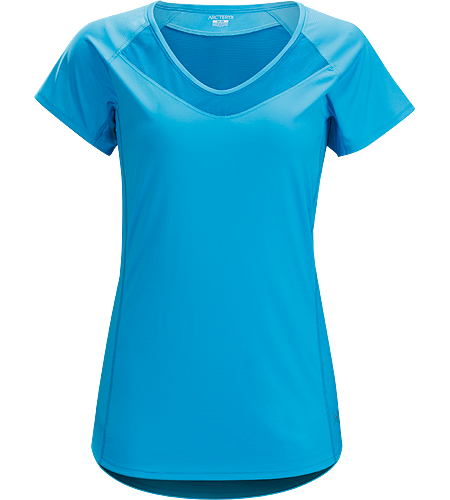 Kapta Shirt SS Women's Women's short sleeve, athletic fit technical tee for high output mountain training in hot weather.