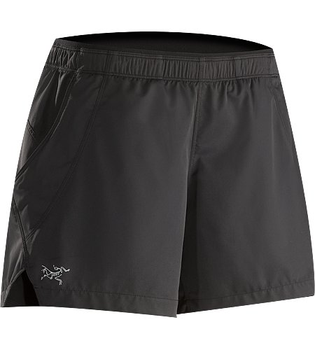 Kapta Short Women's Lightweight, versatile short with a small side slit for ease of stride and a wide stertch knit waistband with elastic drawcord for enhanced comfort and freedom of movement.