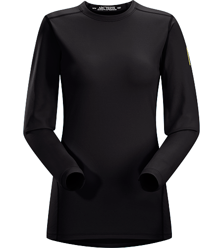 Phase AR Crew LS Women's Lightly-insulated, moisture-wicking, base layer, designed for aerobic use during cooler conditions. Phase Series: Moisture wicking base layer | AR: All-Round.